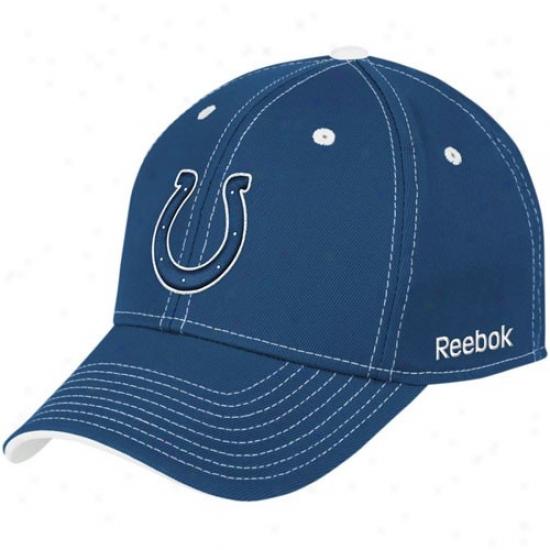 Indianapolis Colt Cardinal's office : Reebok Indianapolis Colt Royal Blue Tonal Team Logo Flex Fit Hat
