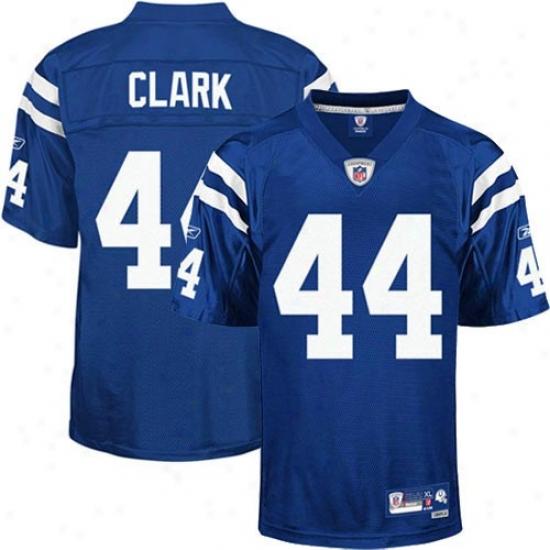 Indianapolis Colt Jersey : Reebok Dallas Clark Indianapolis Colt Premiere Attack Twill Jersey - Royal Blue