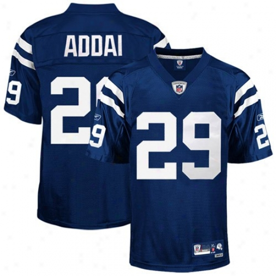 Indianapolis Colt Jersey : Reebok Nfl Equipment Indianapolis Colt #29 Joseph Addai Royal Blue Premier Football Jersey