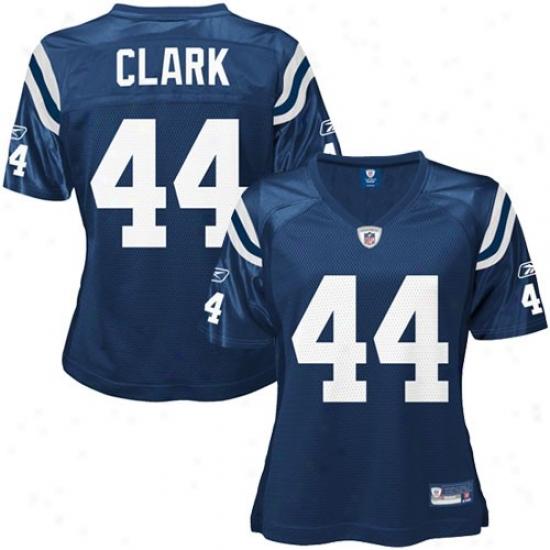 Indianapolis Colt Jerseys : Reebok Dallas Clark Indianapolis Colt Ladies Replica Jerseys - Royal Blue