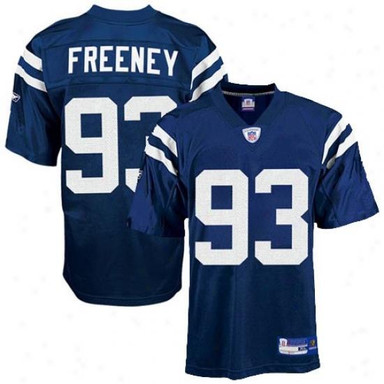 Indianapolis Colt Jerseys : Reebok Nfl Equipment Indianapolis Colt #93 Dwight Freeney Preschool Magnificent Blue Replica Football Jerseys