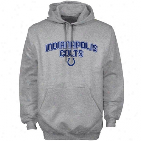 Indianapolis Colt Sweat Shirts : Reebok Indianapolis Colt Ash Double Arch Sweat Shirts