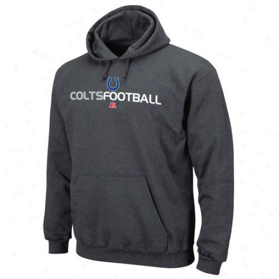 Indianapolis Colt Sweatshirt : Indianapolis Colt Charcoal 1st And Goal Iii Sweatshirt