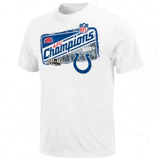 Indianapolis Colt T-shirt : Indiqnapolis Colt White 2009 Afc Champions Locker Room T-shirt
