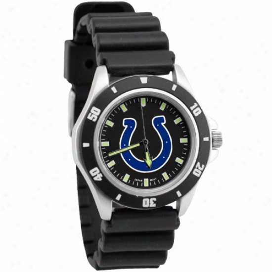 Indianapolis Colt Watches : Indianapolis Colt Black Men's Stainless Steel Face Challenger Sports Watches