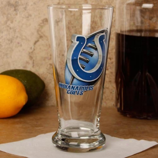 Indianapolis Colts 16.5 Oz. Enhanced Hi-def Flared Pilsner Glass