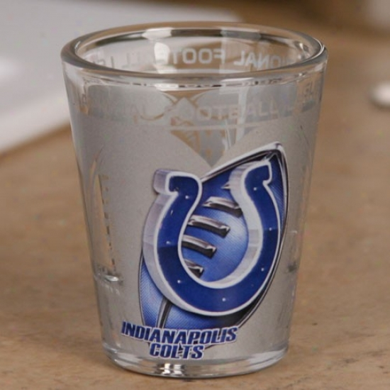 Indianapolis Colts 2 Oz. Enhanced High Definition Chatoyant Glass