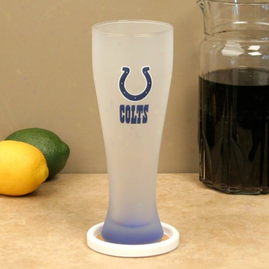 Indianapolis Colts 23oz. Frosted Pilsner Glass