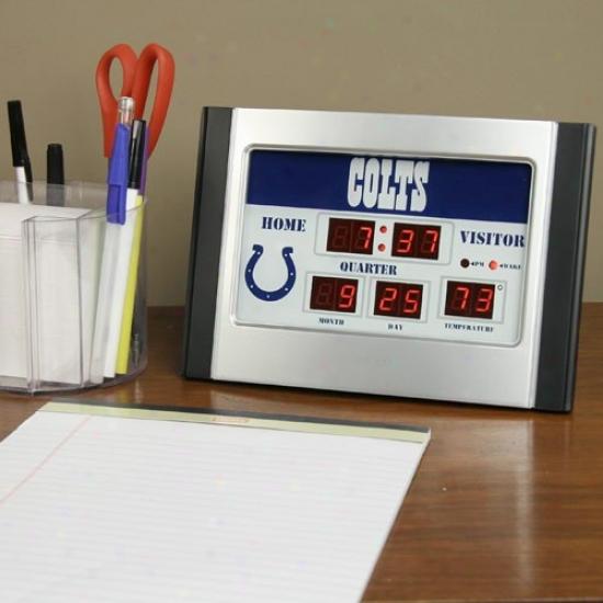 Indianapolis Colts Alarm Scoreboard Clock