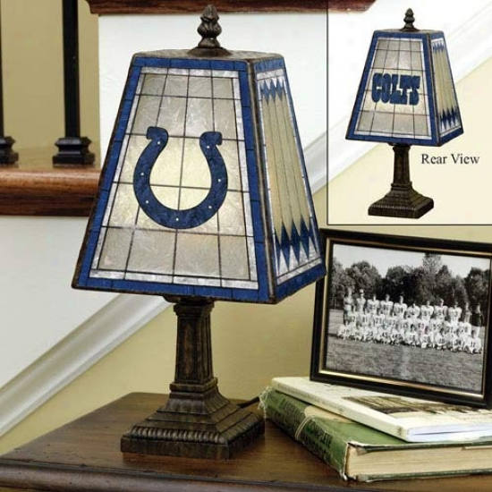 Indianapolis Colts Art-glass Lamp