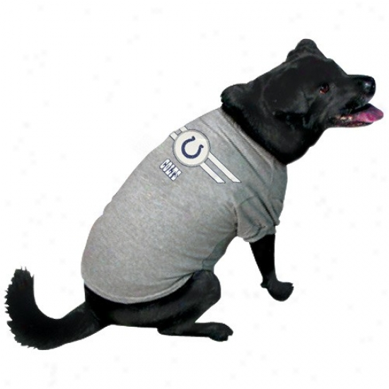 Indianapolis Colts Ash Logo Pet T-shirt