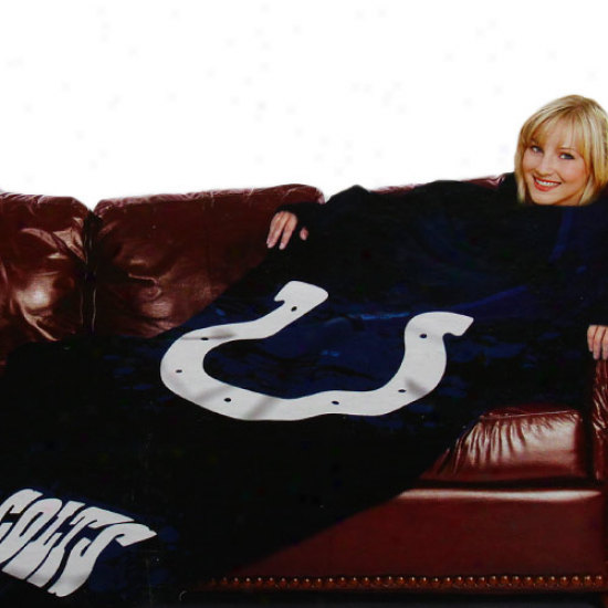 Indianapolis Colts Black Team Logo Print Unisex Comfy Throw