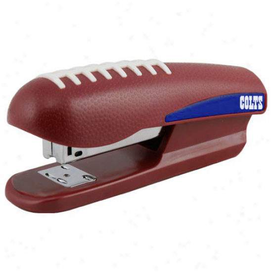 Indianapolis Colts Brown Pro-grip Football Stapler