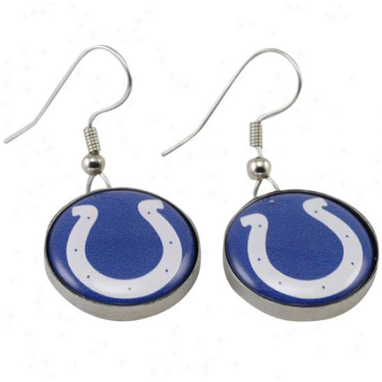 Indianapolis Colts Enamel Logo Charm Drop Earrings