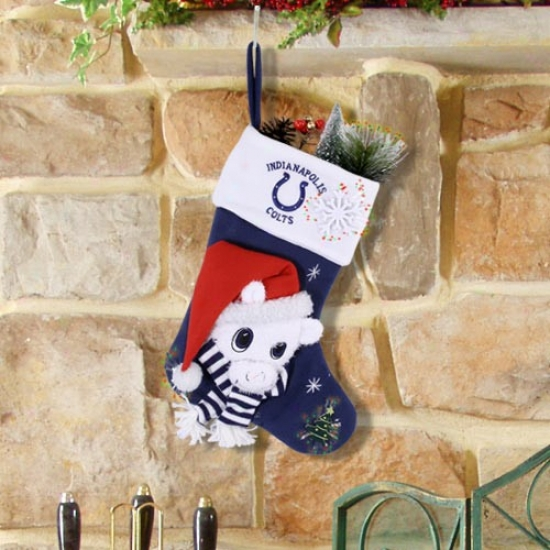 Indianapolis Colts Fiber Optic Mascot Stocking