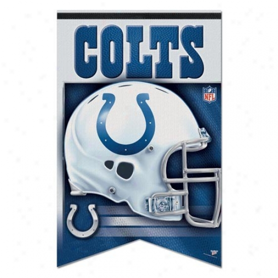 Indianapolis Colts Flag : Indianapolis Colts 17'' X 26'' Premium Quality Felt Flag