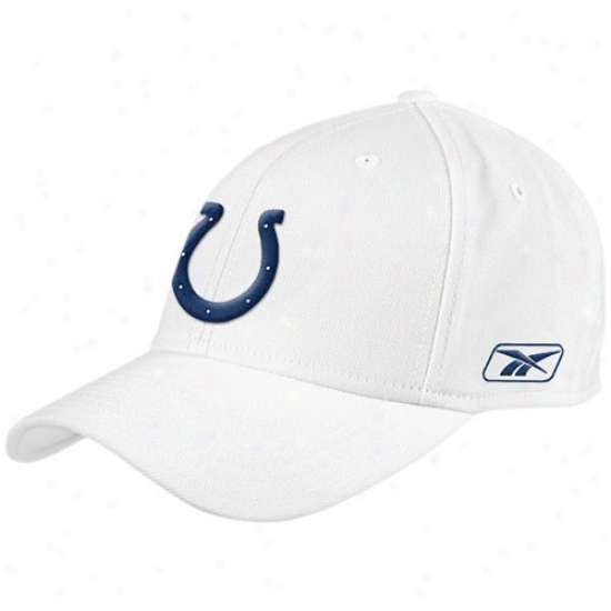 Indianapolis Colts Hat : Reebok Indianapolis Colts White Coaches Flex Cardinal's office