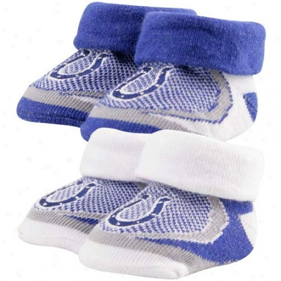 Indianapolis Colts Infant 2-pack Sport Bootie Socks