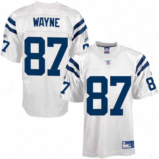 Indianapolis oClts Jersey : Reebok Nfl Equipment Indianapolis Colts #87 Reggie Wayne White Autograph copy Football Jerrsey