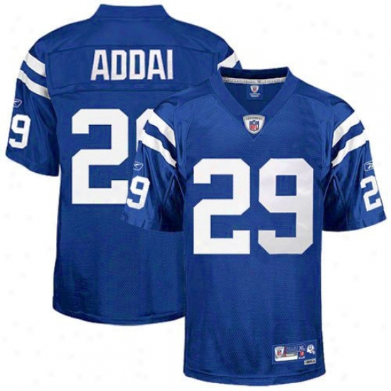 Indianapolis Colts Jerseys : Reebok Nfl Accoutrement Indianapolis Colts #29 Joseph Addai Youth Royal Blue Premier Football Jerseys