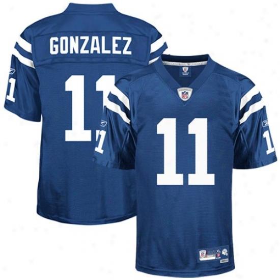 Indianapolis Colts Jerseys : Reebok Nfl Eqhipment Indianapolis Colts #11 Anthony Gonzalez Royal Blue Premier Football Jerseys