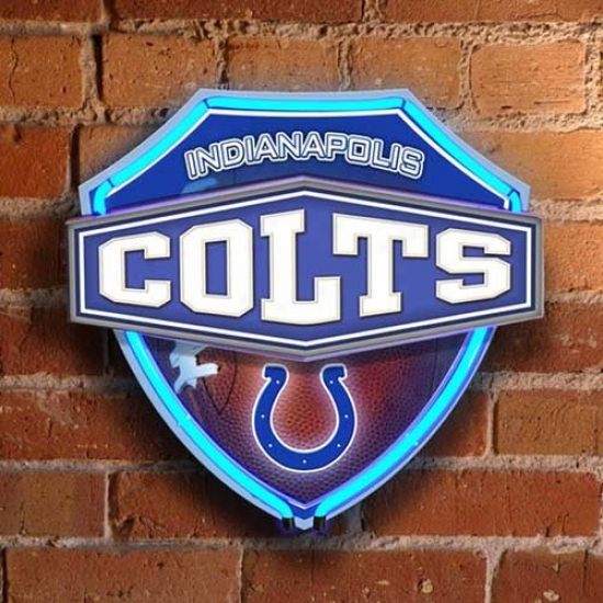 Indianapolis Colts Neon Shield Wail/window Lamp