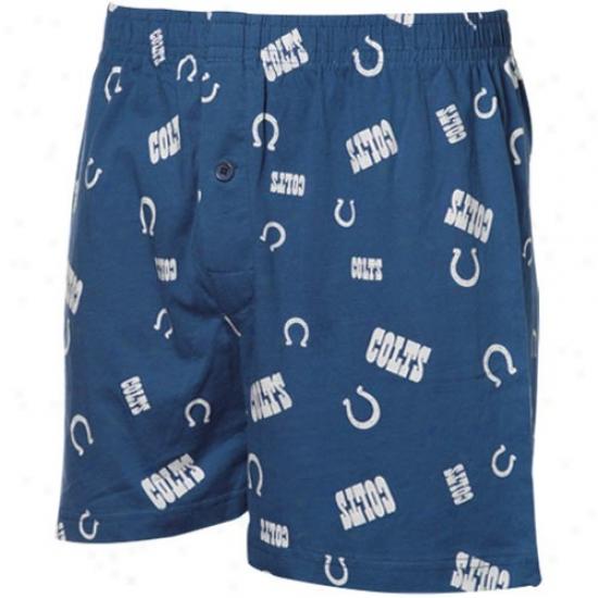Indianapolis Colts Royal Blue Team Faithful Ii Boxer Shorts
