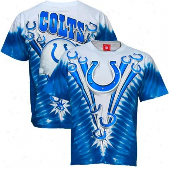 Indianpaolis Colts Shirts : Indianapolis Colts Royal Blue V-dye Logo Shirts