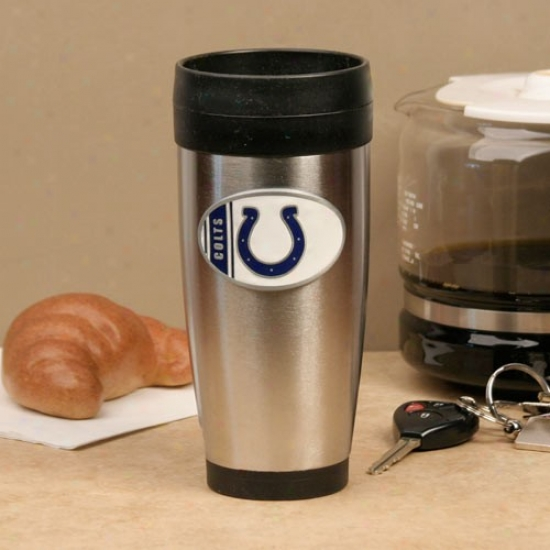 Indianapolis Colts Stainless Steel Team Logo Travel Tumbler