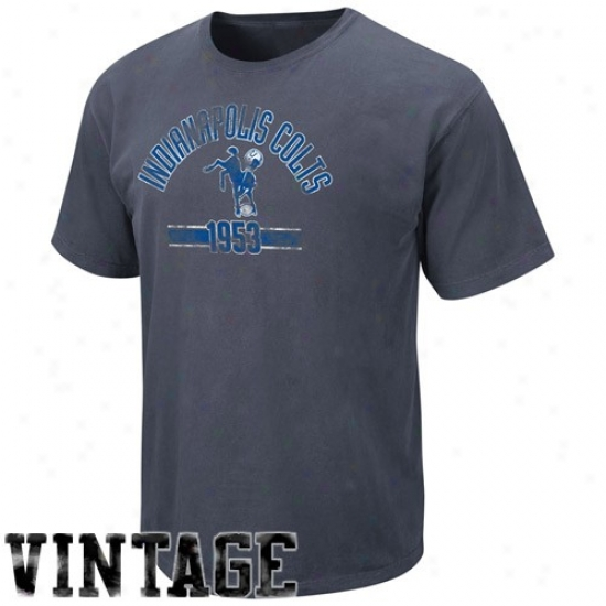 Indianapolis Colts Tee : Indianapolis Colts Dark Blue Legacy Vintage Stadium Wear Tee