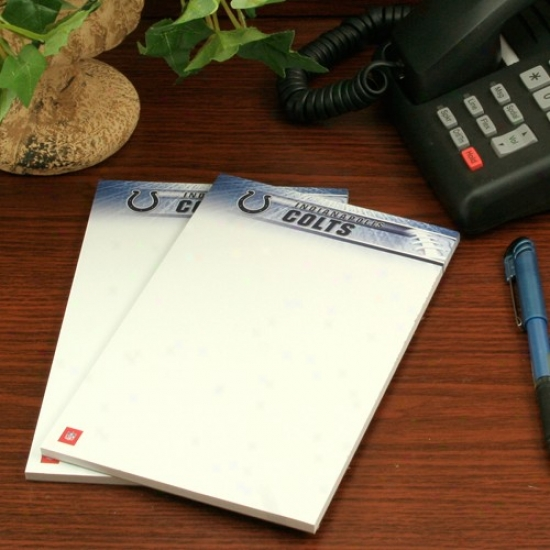 Indianapolis Colts Two-pack 5'' X 8'' Team Logo Notepads