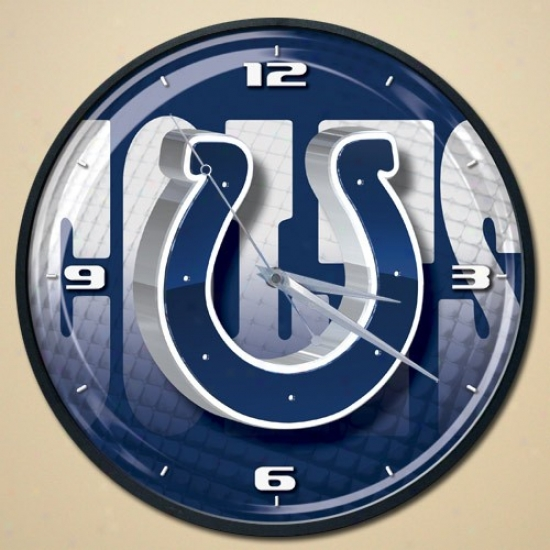Indianapolis Colts Wall Clock
