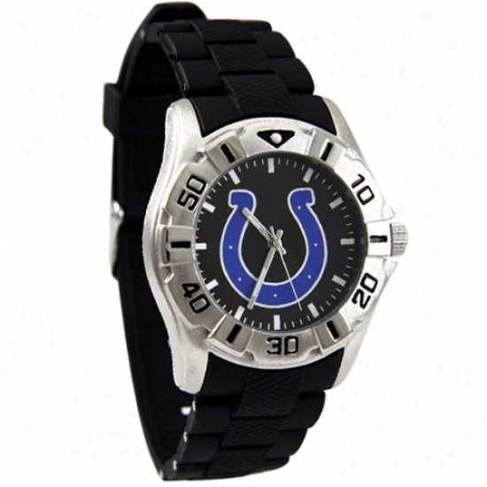 Indiabapolis Colts Watch : Indianapolis Colts Black Mvp Polyure5hane Watch
