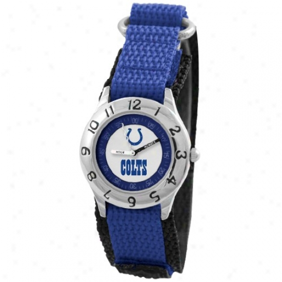 Indianapolis Colts Watches : Indianapolis Colts Youth Royal Blue Time Teacher Watches