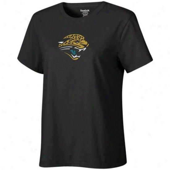 Jacksonville Jags Apparel: Reebok Jacksonville Jags Ladies Black Logo Premier T-shirt