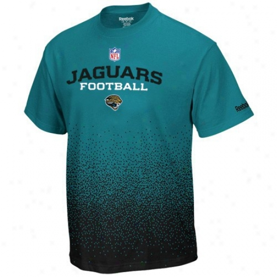 Jacksonville Jags Attire: Reebok Jacksonville Jags Youth Teal Drift Sideline T-shirt