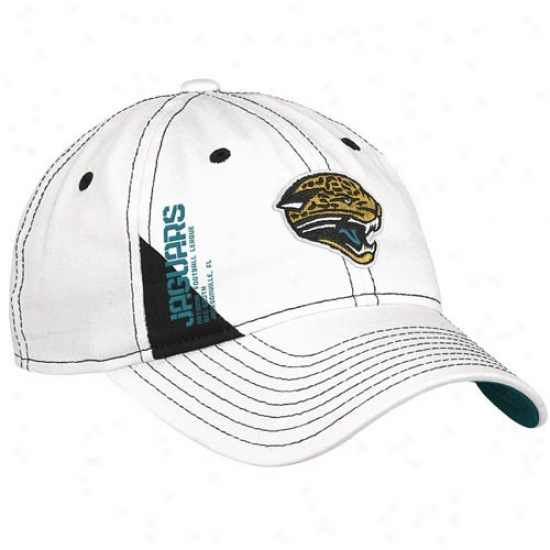Jacksonville Jags Caps : Reebok Jacksonville Jags Ladies White Official 2010 Draft Appointed time Adjustable Caps
