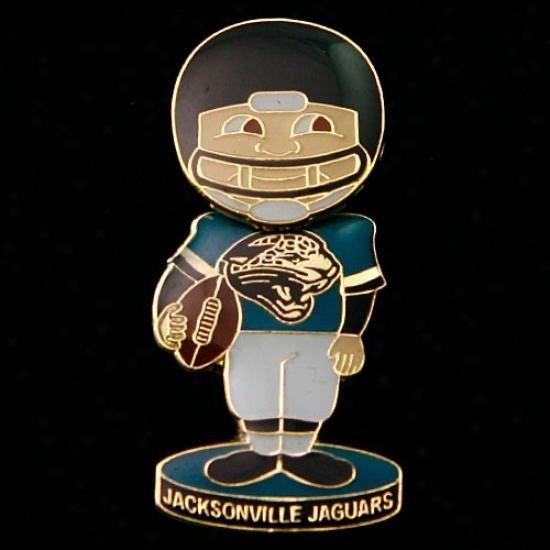 Jacksonville Jags Gear: Jacksonville Jags Bobble Head Football Player Pin