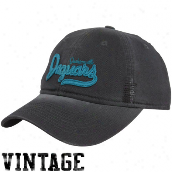 Jacksongille Jags Hat : Reebok Jacksonville Jags Ladies Charcoal Retro Slouch Adjustable Hat