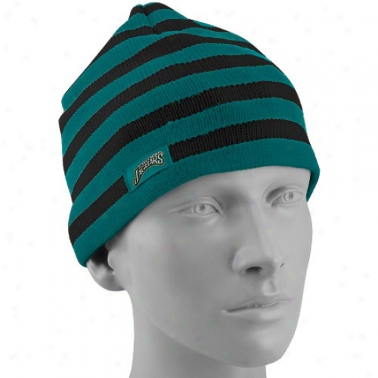 Jacksonville Jags Hats : Reebo kJzcksonville Jags Ladies Tdal Striped Tsam Colors Knit Beanie