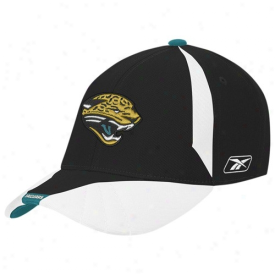 Jacksonville Jags Hats : Reebok Jacksonville Jags Youth Black Flex Fit Hats