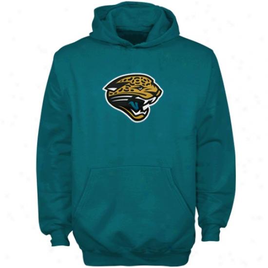 Jacksonville Jags Hoodie : Reebok Jacksonville Jags Teal Youth Team Logo Pullover Hoodie