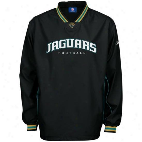 Jacksonvllle Jags Jacket : Reebok Jacksonville Jags Black Play Dry Ht Jacket