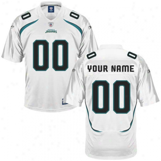 Jacksonville Jags Jerseys : Reebok Nfl Equuipment Jacksonville Jags Youth Custom Replica Jerseys - White