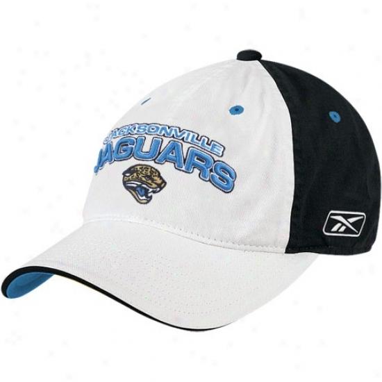 Jacksonville Jags Merchandise: Reebok Jacksonville Jags Two-tone Flex Slouch Hat