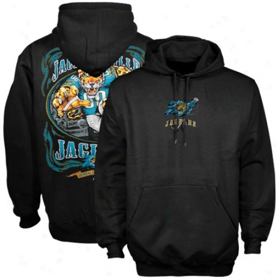 Jacksonville Jags Sweat Shirt : Jacksonville Jags Black Running Back Sweat Shirt