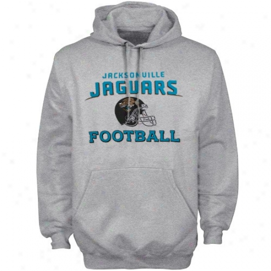Jacksonville Jags Sweat Shirt : Reebok Jacksonville Jags Ash Stacked Helmet Sweat Shirt