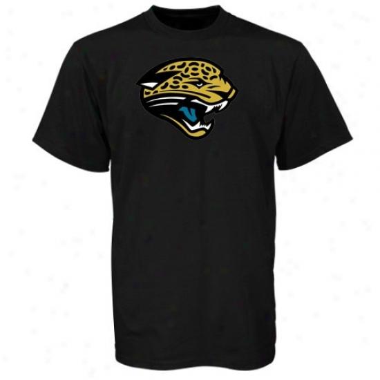 Jacksonville Jags T Shirt : Reebok Jacksonville Jags Black Logo Premier T Shirt
