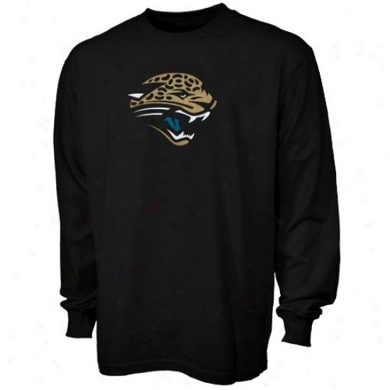 Jacksonville Jags T Shirt : Reebok Jacmsonville Jags Black Logo Premier Long Sleeve T Shirt
