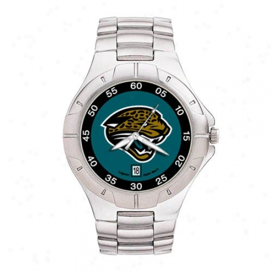 Jacksonville Jags Watch : Jacksonville Jags Men's Pro Ii Mark W/stainless Steel Band